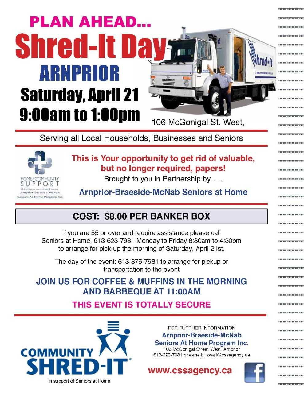 Shred-It Day 2018 - The Township of McNab/Braeside